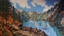 Mountain lake - 32 x 18 cm , 23 colours, €700