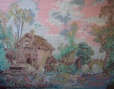 Water Mill - (after Francois Boucher) 32.5 x 24.5 cm , 34 colours, €700