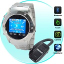 Watch-Phone - First and foremost, this unit is a high quality quad band GSM (850MHz, 900MHz, 1800MHz, 1900MHz) unlocked mobile phone that fits on your wrist. Stick in a SIM card and use it as a highly convenient mobile phone. This phone features a high quality touchscreen LCD display and virtual keypad for quick dialing and texting while on the go. It also comes with a great Bluetooth headset for further versatility.
