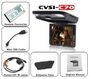Package Content - This cool gadget is perfect for keeping your passengers entertained. The high quality, region free DVD player that can playback DVD's you bought from anywhere, Europe, China, Latin America, etc. If you do not have any DVDs with you, no problem! The Roof Mounted Car DVD player features a SD card slot and an USB/mini USB connector that you can use to share your favorite multimedia content/Video Clip/Movie Files with everyone else inside the car.