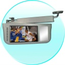 Car Monitor - 7 Inch Sun Visor TFT LCD Monitor - 360 Degree Swiveling -Grey. Can be mounted on either the right of left side of the car - the choice is yours!