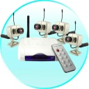 Security Camera - This mini wireless home surveillance combo with 4 nightvision cameras and receiver is perfect for keeping an eye on your home or small business, day and night!