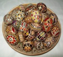 Egg - 0007 - Decorated eggs with traditional geometric motifs and colours that are typical of zone.  Size: hen egg.  Price: 2 €