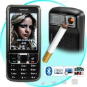 Dual Sim - Say hello to the world's hottest cigarette lighter mobile phone - The Machismo! Not only does it light your cigarette, but it's also a super Triband, Dual-SIM cellphone with 2.5 inch touchscreen!