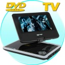 DVD Player-TV - 7 Inch Portable DVD Player with Swivel Screen + Analog TV designed to maximize flexibility of your entertainment needs. The CVIB-E20 comes with all the functions needed to access your video content, whether from a DVD, CD, SD card or flash memory USB key with efficiency and ease. This portable DVD player is suitable for people of all ages and makes a great present for loved ones, including friends and relatives.