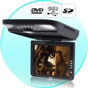 Car DVD-USB - This roof mounted vehicle audio and visual entertainment system features a 10.4 inch TFT LCD display with amazing 800x600 pixel resolution for vibrant color and crystal clear picture quality. This high brightness LCD screen can be rotated 90 degrees to the left or right, so it is in the perfectly position for everyone in the car to enjoy a good time.