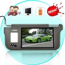 Car Monitor - Factory-direct sun visor monitor with a 9 inch LCD screen. With two Video inputs, a built in mirror, nightlight, and universal neutral grey color, this makes a great upgrade to your standard car sunvisor. Now you see the video from your car rearview camera or GPS unit right in front of you - with the A59 Sun Visor Monitor.